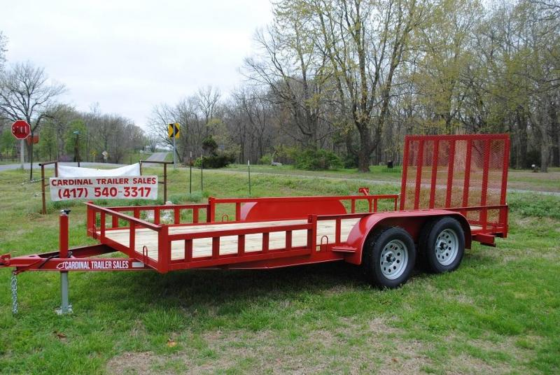 2020 Cardinal Trailer MFG 76X16 SIDE RAIL RAMPS Utility Trailer