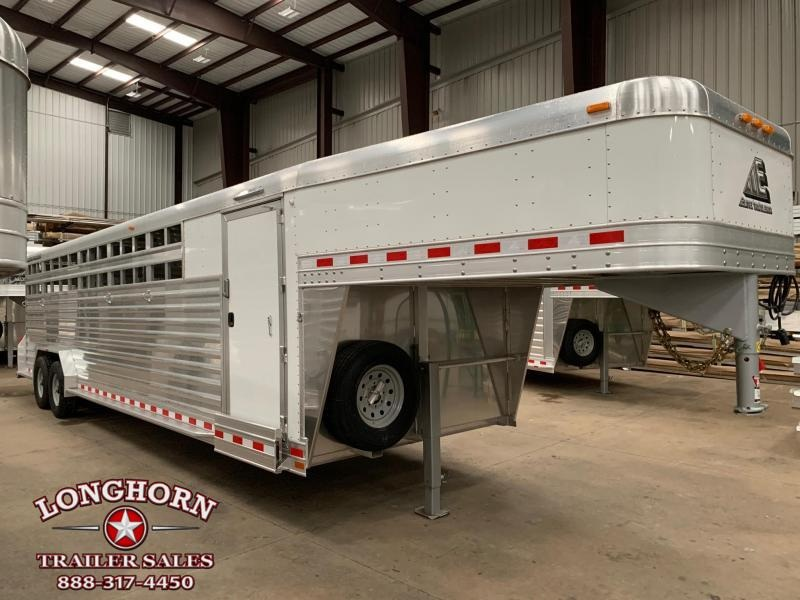 2020 Elite Trailers 28ft Stock Combo Roper Special Livestock Trailer