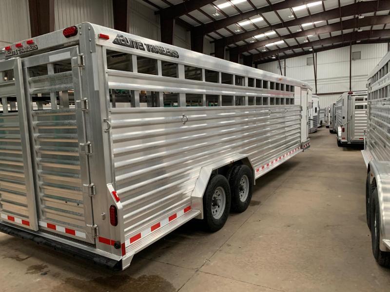 2020 Elite Trailers 28ft Stock Combo Roper Special Livestock Trailer