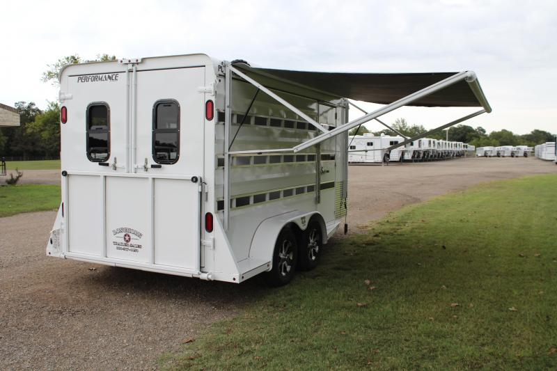 2019 Performance Trailers 16ft Show Cattle with Front Tack Room Livestock Trailer