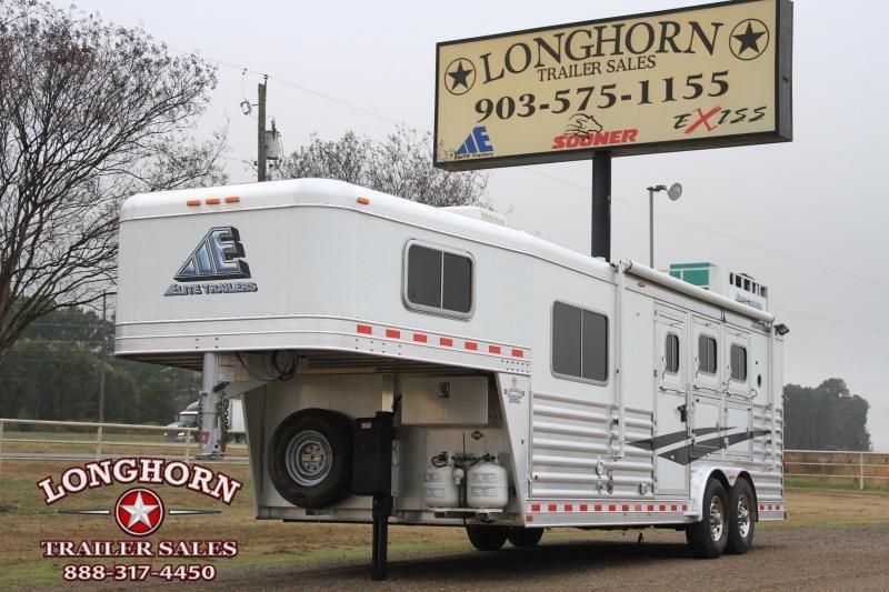 """2012 Elite 3 Horse 8'8"""" Lq / Mangers / Generator"""