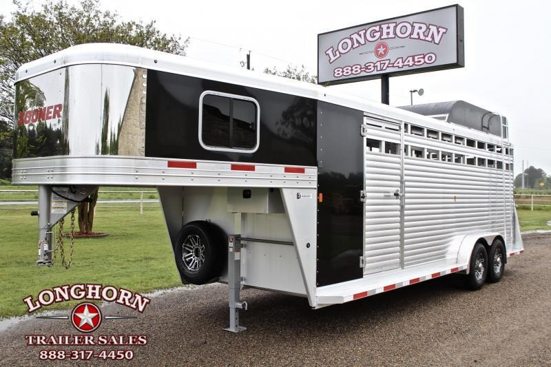 2020 Sooner 22ft Roper Special with Swing Out Saddle Rack Livestock Trailer