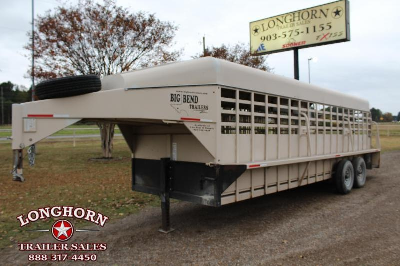 2014 Big Bend 24ft Livestock Trailer with Metal Top