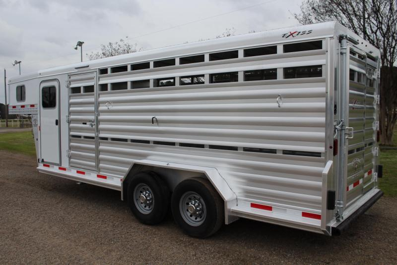 2019 Exiss Trailers 20ft Stock Combo with 4ft Tack HD MODEL Livestock Trailer