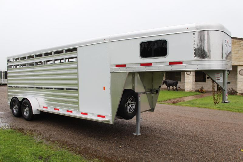 2020 Exiss Trailers 20ft Stock Combo with 4ft Tack Room Livestock Trailer