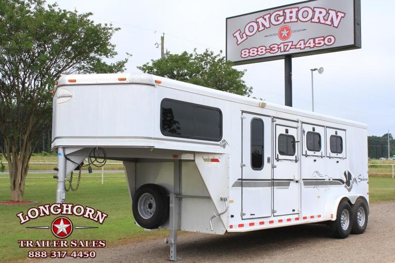 1999 Sundowner Trailers 3 Horse Goosneck with Rear Ramp Horse Trailer