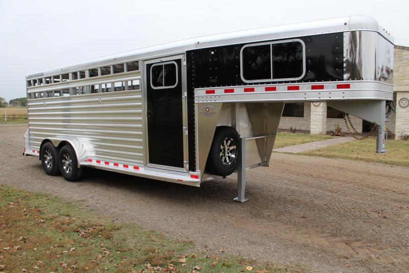 2020 Elite Trailers 20ft Stock Combo with 4ft Tack Room Livestock Trailer
