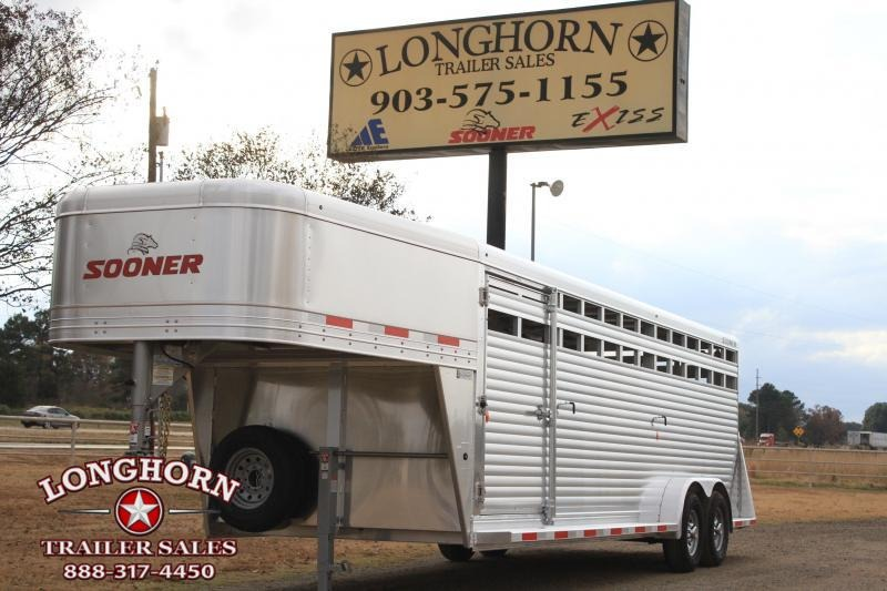 2020 Sooner 24ft x 7ft  Livestock Trailer
