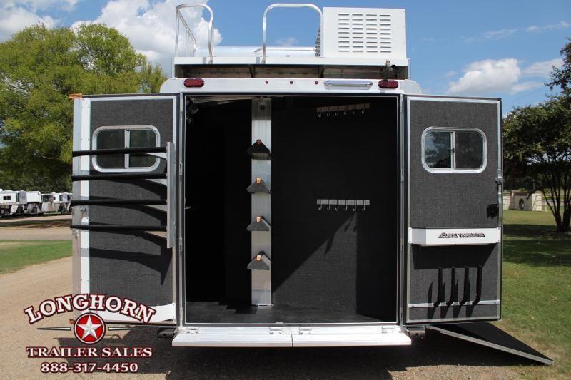 2020 Elite 4 Horse 12'8'' Living Quarter Side Load