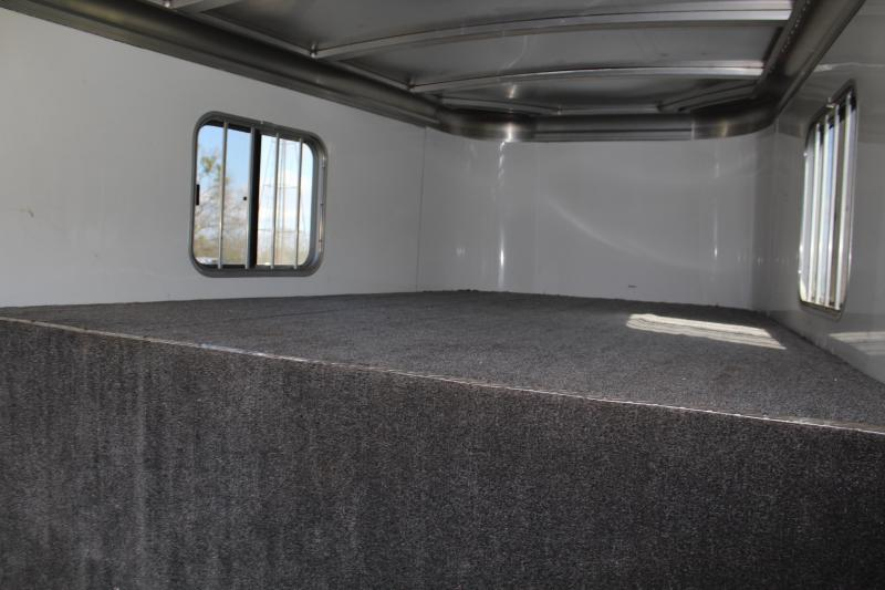 2014 Circle J 3 Horse Gooseneck with Swing Out Saddle Rack
