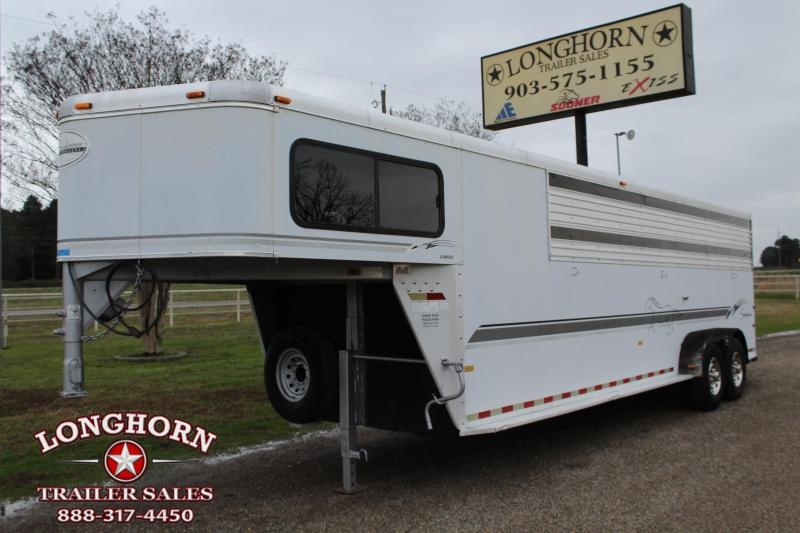 2002 Sundowner Trailers 24ft Stock Combo with 4ft Tack Room Livestock Trailer