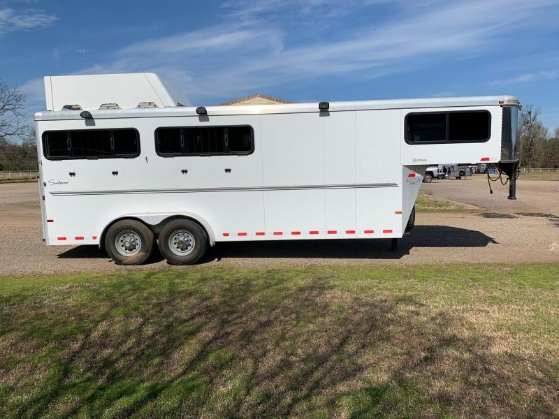 2013 Sundowner Trailers 4 Horse with MANGERS and Front Tack Horse Trailer