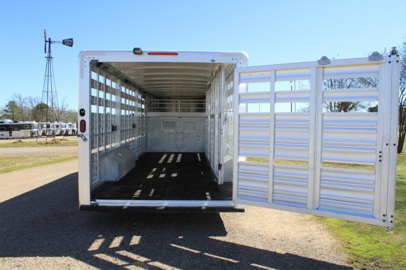 2015 Cimarron 24' x 8' Stock Trailer with Two Cut Gates