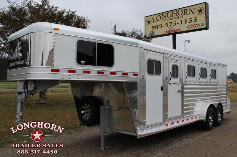 2020 Elite Trailers 4 Horse with Front and Rear Tack Room Horse Trailer