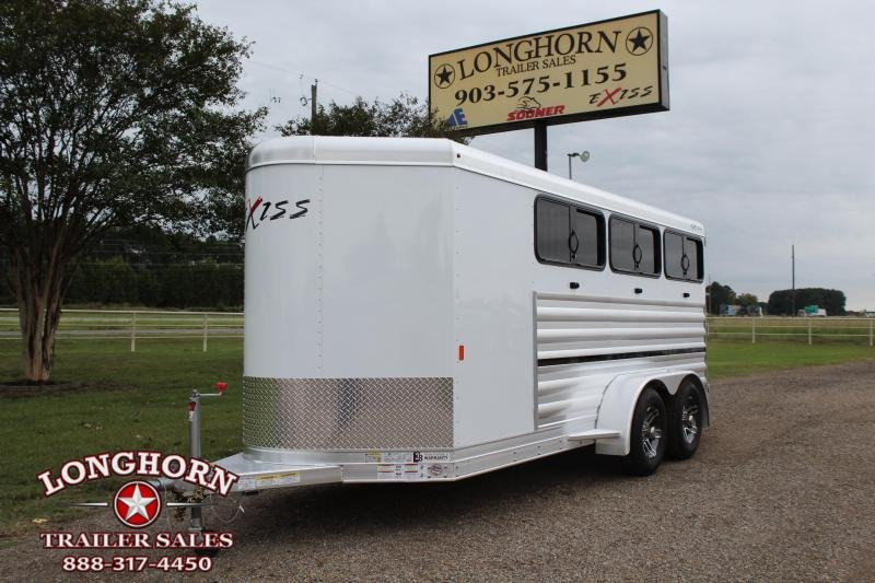 2020 Exiss Trailers 6 Pen Low Pro with Window and Insulated Roof Livestock Trailer