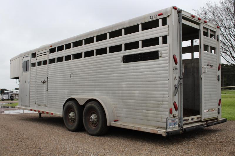 2002 Sooner 24ft Stock Combo wiht 4ft Tack Room Livestock Trailer