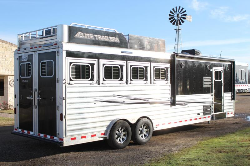 2018 Elite Trailers 4 Horse 10.8ft Shortwall with Generator Horse Trailer