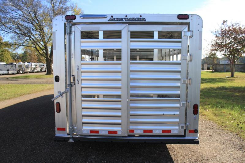 2020 Elite 8' x 28' Show Cattle Combo with Side Ramp