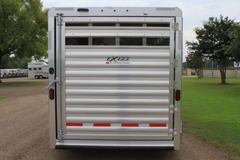 2020 Exiss 3 Horse Bumper Pull with Drop Windows