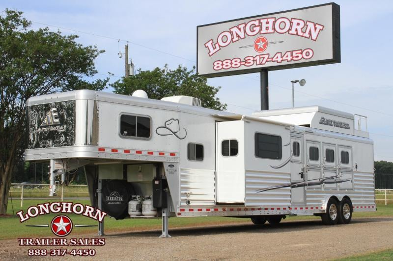 2019 Elite Trailers 4 Horse 15ft LQ Side Load Slide Out