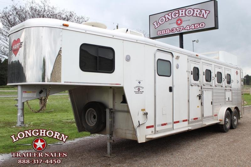 2004 Hart Trailers 4 Horse 7ft LQ with Mangers Horse Trailer