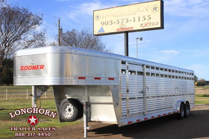 """2020 Sooner 30' x 7.6"""" Stock Trailer Livestock Trailer"""