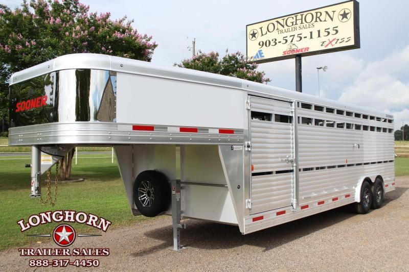 2020 Sooner  24ft x 8ft Show Cattle Stock with Floating Gate