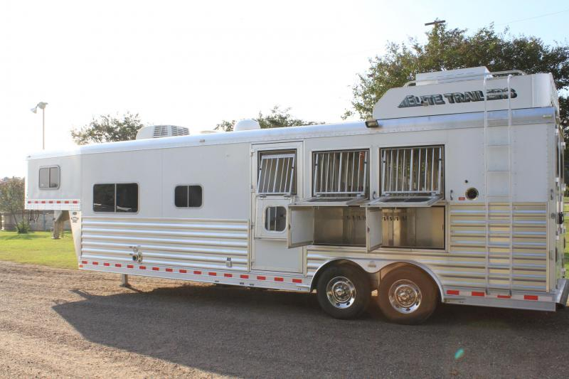 2015 Elite 3 Horse 12.8ft Shortwall with Generator