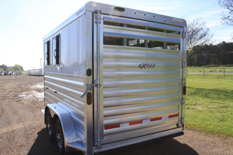 2020 Exiss 2 Horse Bumper Pull with Drop Windows