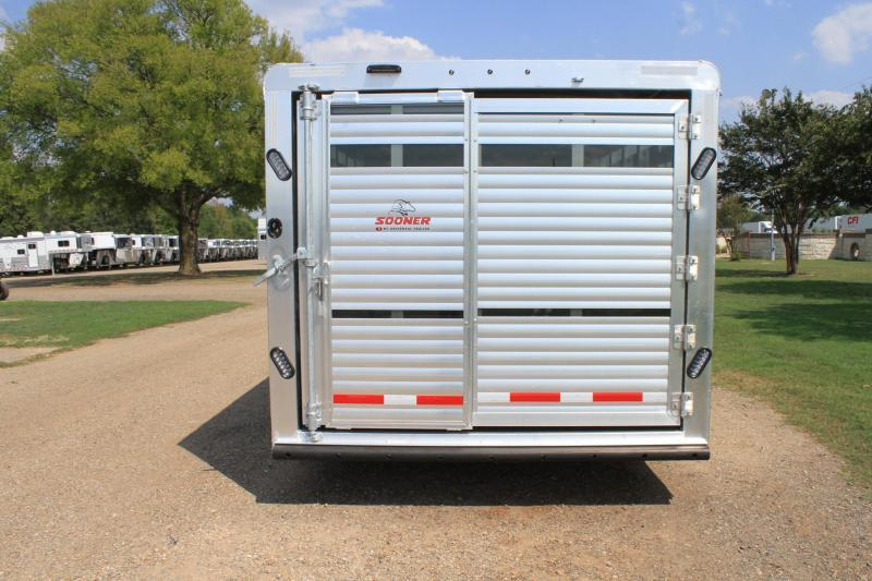2020 Sooner 28ft Show Cattle Combo with Two Side Ramps HYD. JACK