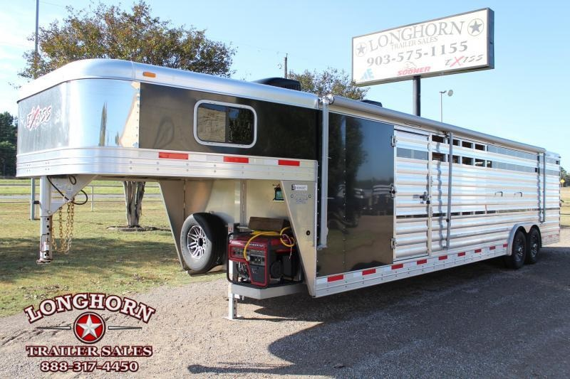 2018 Exiss Trailers 30ft Show Cattle Combo with Two A.C.s Livestock Trailer