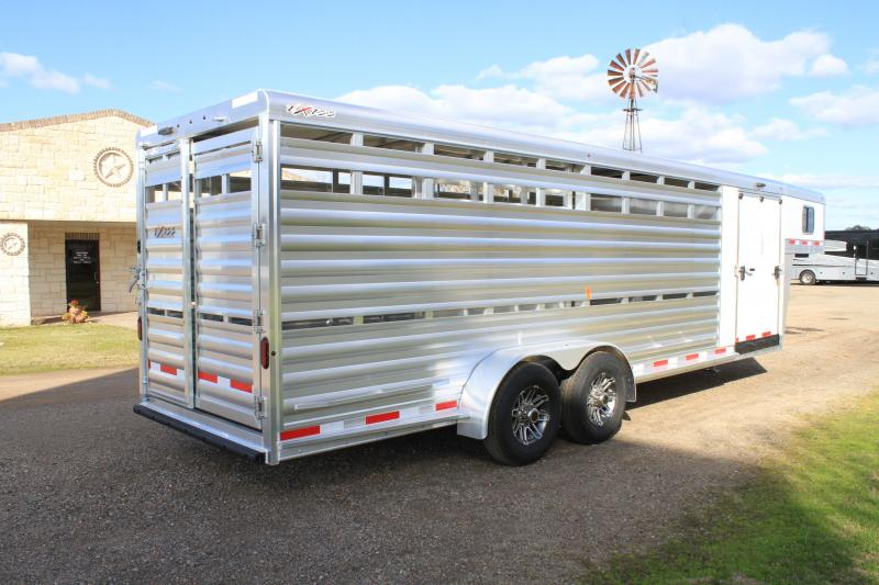 2020 Exiss Trailers 24 Ft Stock Combo w/ Side Ramp in Tack
