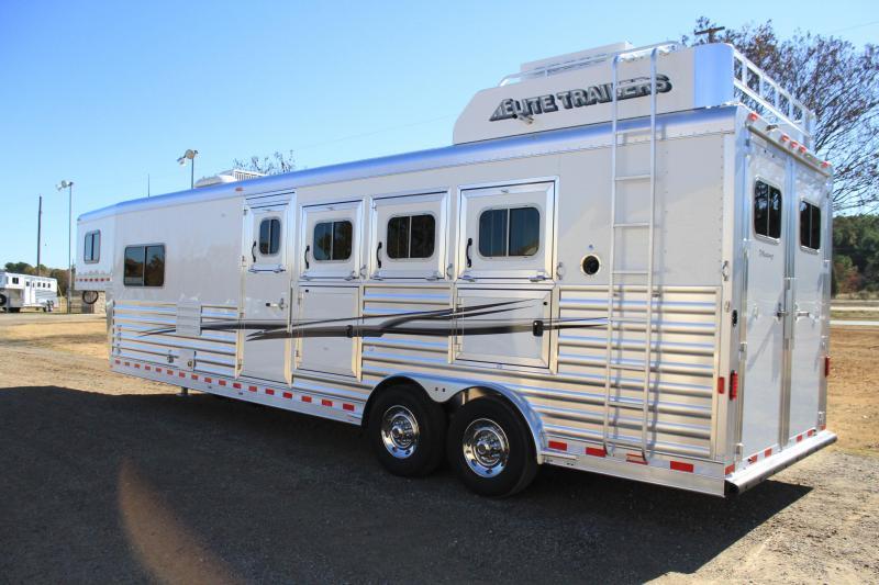 2020 Elite Trailers 4 Horse 10.8 Living Quarter with Generator