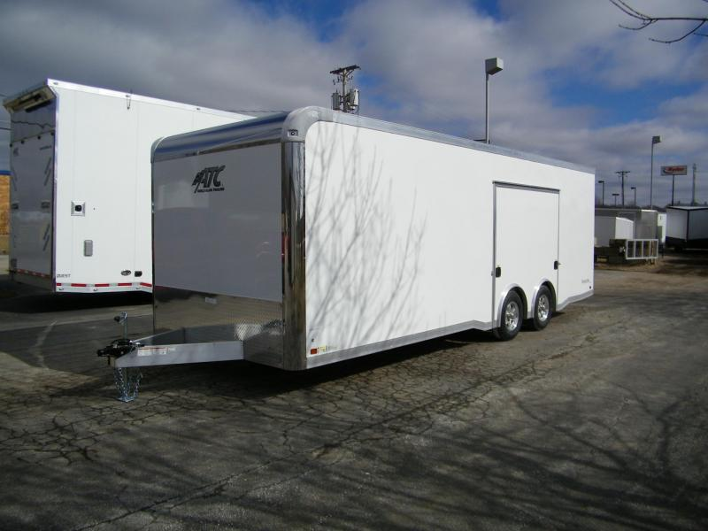 2020 ATC Raven 8.5x24 Aluminum Enclosed Car Trailer Car / Racing Trailer
