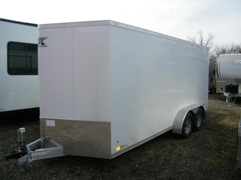 2020 ATC Raven 7x16 V-Nose Enclosed Aluminum Trailer Enclosed Cargo Trailer