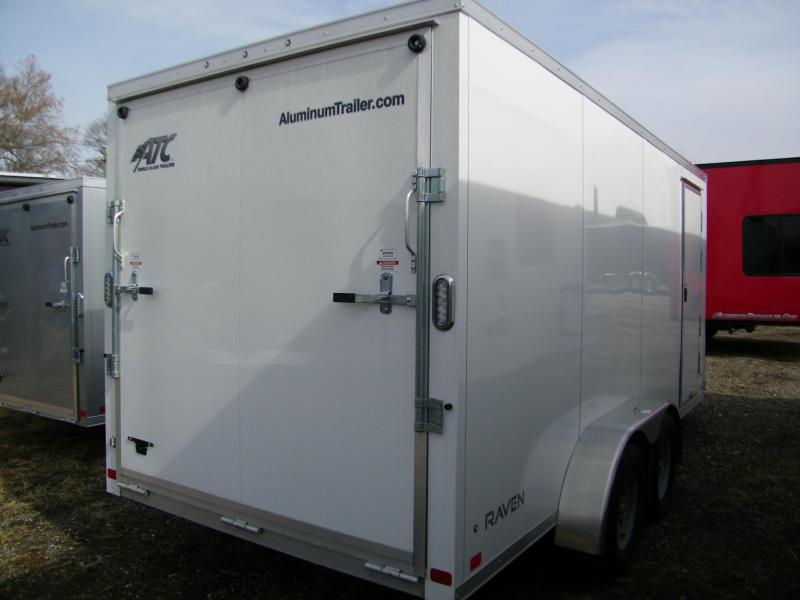 2020 ATC Raven 7x16 V-Nose Enclosed Aluminum Trailer Enclosed Cargo Trailer