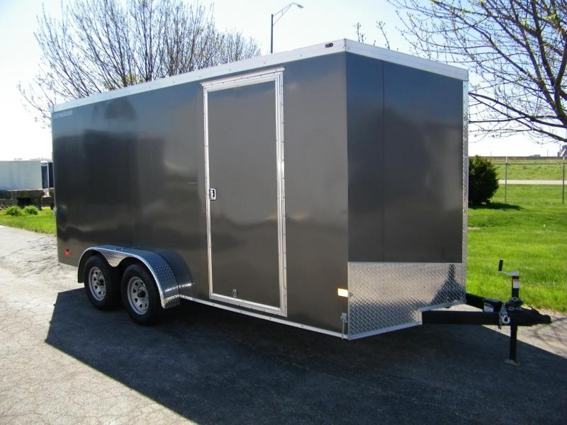 2020 Wells Cargo Road Force 7x16 V-Nose Enclosed Cargo Trailer