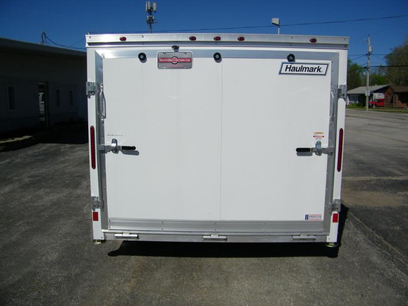 2020 Haulmark HAMV 7.5X14 Aluminum V-Nose Enclosed Trailer Motorcycle Trailer
