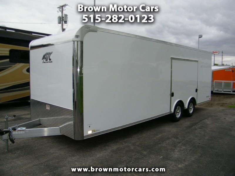2020 ATC 8.5x24 Aluminum Car Hauler w/Premium Escape Door