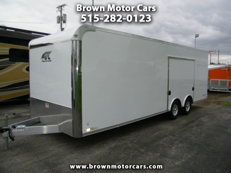 2020 ATC 8.5x24 Aluminum Car Hauler w/Premium Escape Door