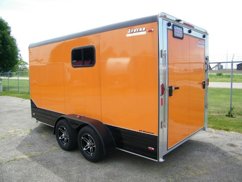 2015 Legend Deluxe V-Nose 7x17 Aluminum Trailer w/7' Interior Height