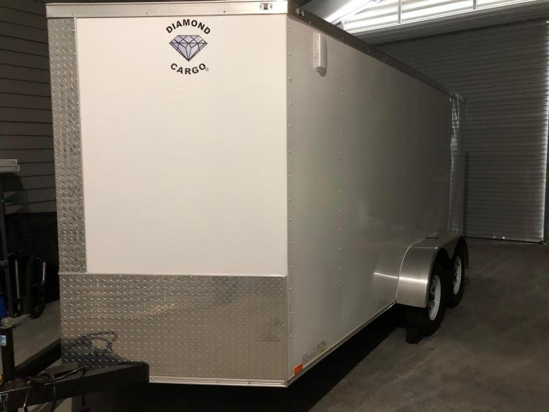 2020 Diamond Cargo 7 x 14 7K Enclosed Cargo Trailer