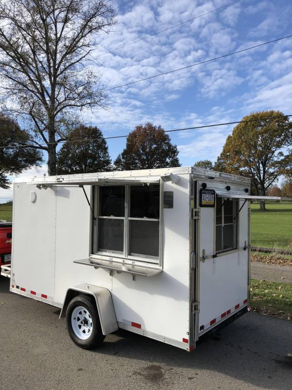 2018 Sure-Trac Pro Series Wedge Front 6 X 12 Concession Trailer