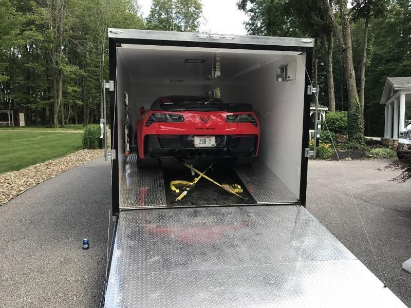 2017 Enclosed Ramp Over Race Car Trailer