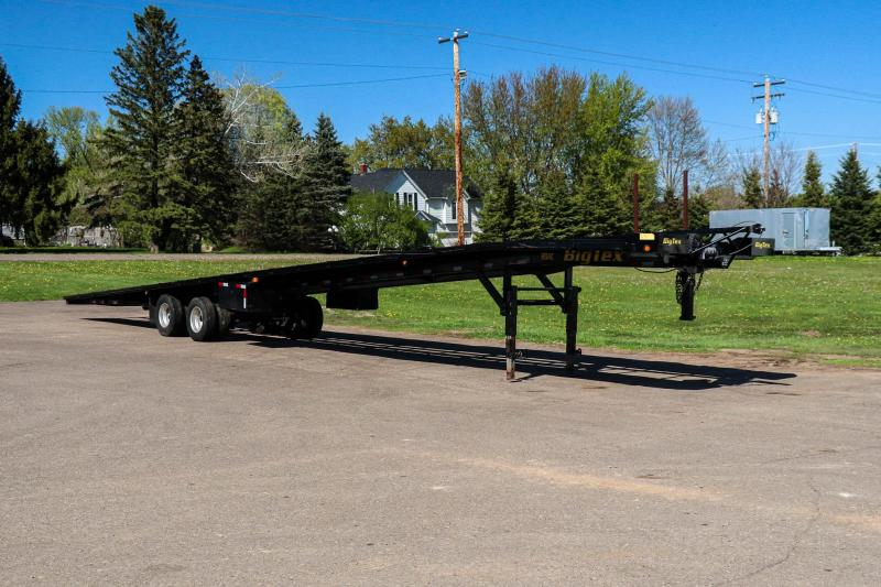 2015 BigTex 51-Foot Tandem Dual Gooseneck 3 Car / Trailer Combo Wedge Transporter