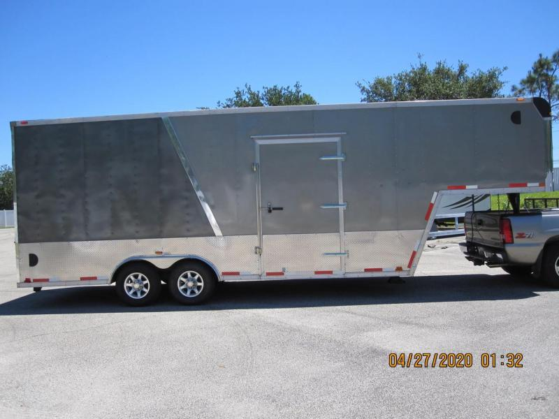 2011 Atlas Gooseneck Enclosed Car Trailer