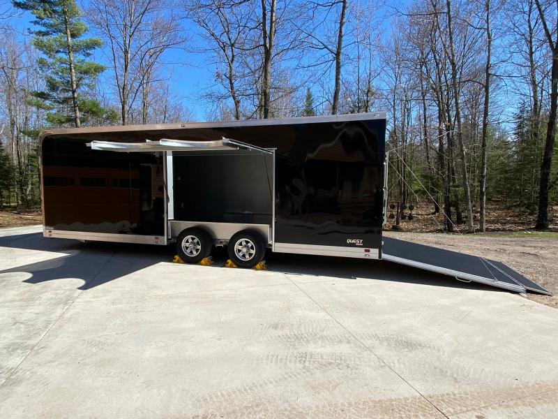 2019 ATC Quest 8.5 x 24 10K Aluminum Enclosed Car Hauler