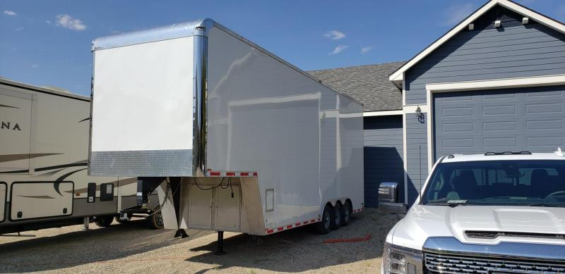 2016 Custom 8.5 X 31 Stacker Trailer with Lift