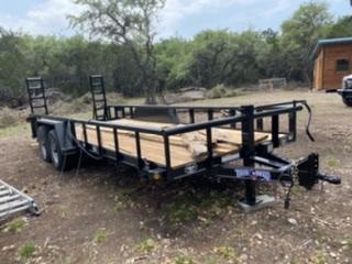 2019 Texas Bragg 6' x 20' Tandem Axle 10K Utility Trailer