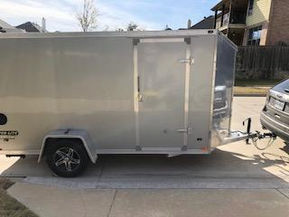 LIKE NEW - 2015 Stealth Trailers Super-Lite All Aluminum Motorcycle Trailer